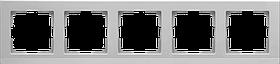 Рамка на 5 постов /WL04-Frame-05 (серебрянный)