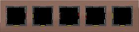 Рамка на 5 постов /WL11-Frame-05 (коричневый алюминий)