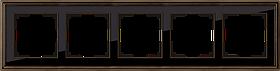 Рамка на 5 постов /WL17-Frame-05 (бронза/черный)