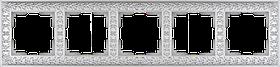 Рамка на 5 постов /WL07-Frame-05 (жемчужный)
