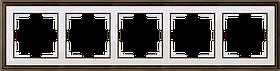 Рамка на 5 постов /WL17-Frame-05 (бронза/белый)