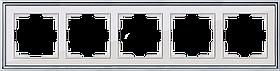Рамка на 5 постов /WL17-Frame-05 (хром/белый)