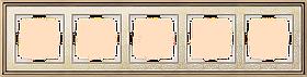 Рамка на 5 постов /WL77-Frame-05 (золото/белый)
