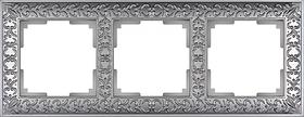Рамка на 3 поста /WL07-Frame-03 (матовый хром)
