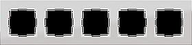 Рамка на 5 постов /WL11-Frame-05 (алюминий)
