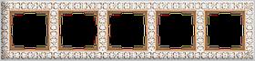 Рамка на 5 постов /WL07-Frame-05 (белое золото)