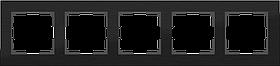 Рамка на 5 постов /WL11-Frame-05 (черный алюминий)