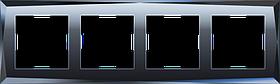 Рамка на 4 поста /WL08-Frame-04 (черный)