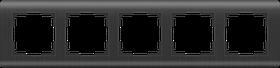 Рамка на 5 постов /WL12-Frame-05 (графит)
