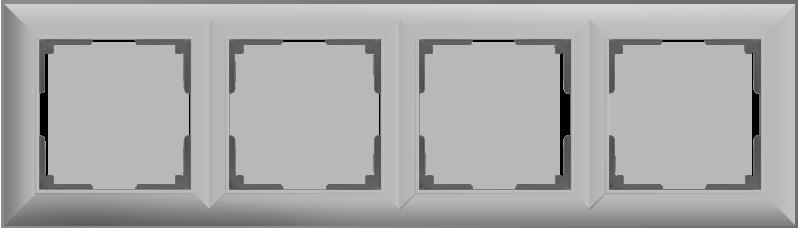 Рамка на 4 поста /WL14-Frame-04 (серебряный)