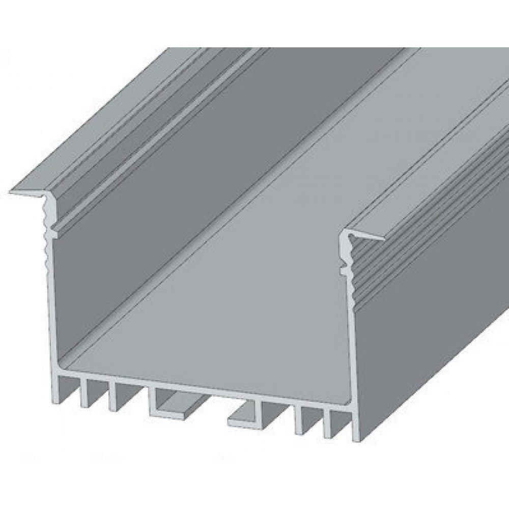 ЛСВ40 Алюминиевый профиль, цвет анодировки-серебро 40*30мм, длина 2 м