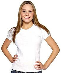 "Футболка для сублимации Прима-Софт микрофибра ""Style Woman"" цвет: белый, размер: 40(3XS)"