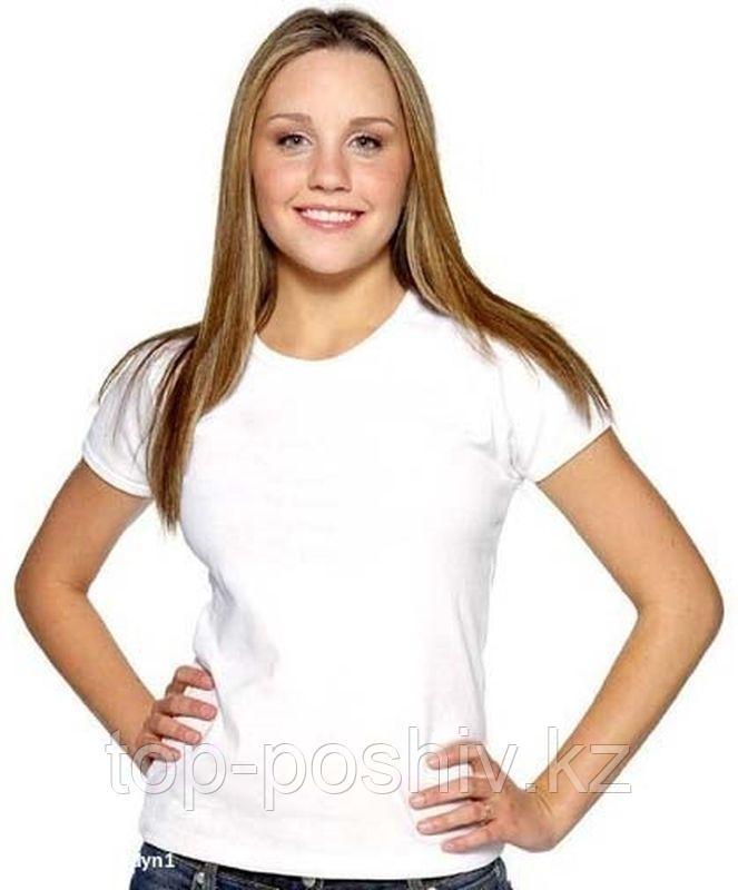 "Футболка для сублимации Прима-Софт микрофибра ""Style Woman"" цвет: белый, размер: 48(M)"