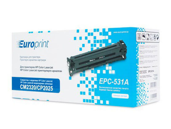 Лазерный картридж Europrint EPC-531A для HP Color LaserJet CM2320/CP2025 (Blue, 2800 стр)