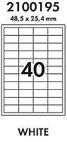 Бумага самоклеящаяся A4/1650л/ 40-дел.белая (универсальная печать)70г/м2 Lomond тех.упаковка L2100195_1650