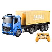 Детский трак контейнеровоз Mercedes-Benz Arocs Container Truck на радиоуправлении, фото 1