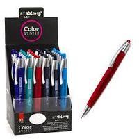 Ручка шариковая Yalong автомат, синяя,