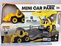 Детсикй трактор машинка - mini car park engineering team toy bricks
