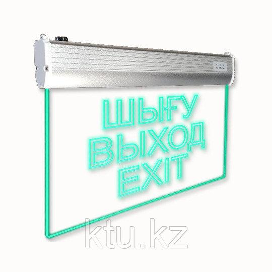 LED ДБА EXIT GLASS (ШЫГУ/ВЫХОД/EXIT) 332x195x25 (батарея на 1,5 часа) MEGALIGHT (20)