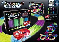 Fluorescent Rail Cars, Гибкий трек с машинкой - (светится в темноте), фото 1