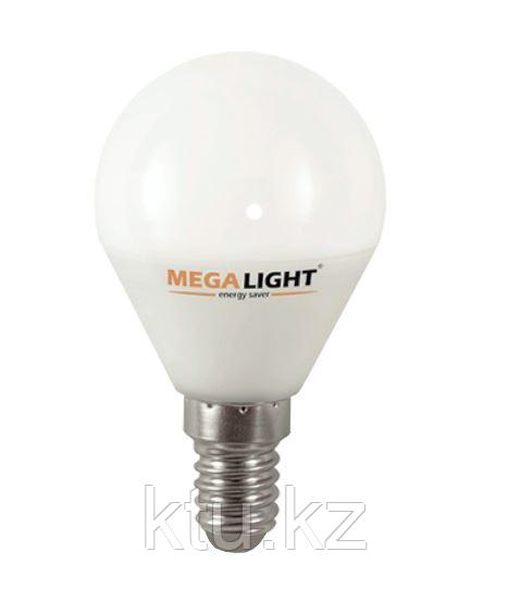 "LED ЛАМПА P45 ""Шар"" 4,5W 405Lm 230V 2700K E14 MEGALIGHT (10/100) ***"