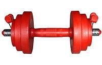 Гантель красная 10 кг. Россия