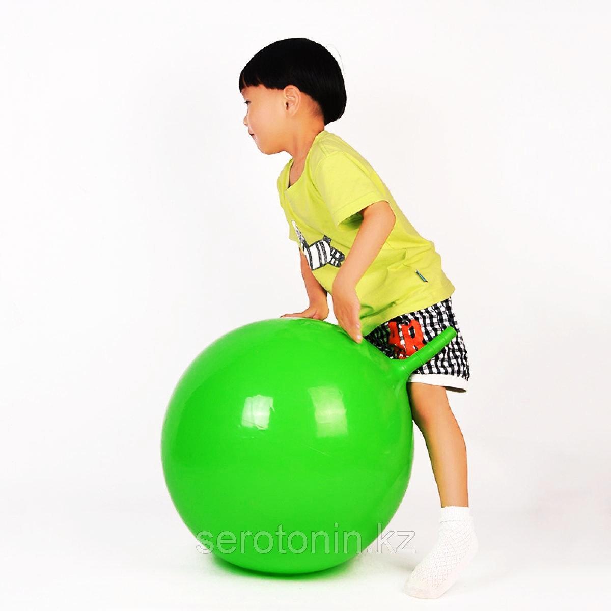Мяч гимнастический 55 см с рожками - фото 3