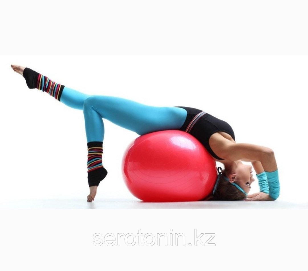 Мяч гимнастический двухцентровой 45 х 90 см Россия - фото 3