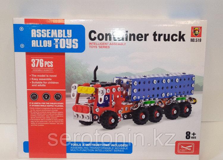 Конструктор железный металлический Грузовик машинка Container truck