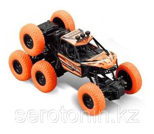 Машинка аккумуляторная внедорожник на радиоуправлении 1:14 Racing ZR2077 Kronos Toys 4WD 6 колес Оранжевый