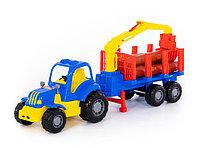"""""""Крепыш"""", трактор с полуприцепом-лесовозом"""