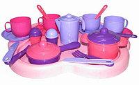 """Набор детской посуды """"Янина"""" с подносом на 4 персоны"""