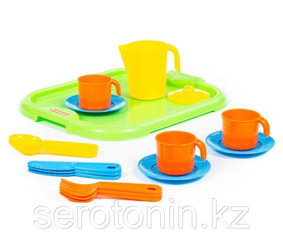 """Набор детской посуды """"Анюта"""" с подносом на 3 персоны"""