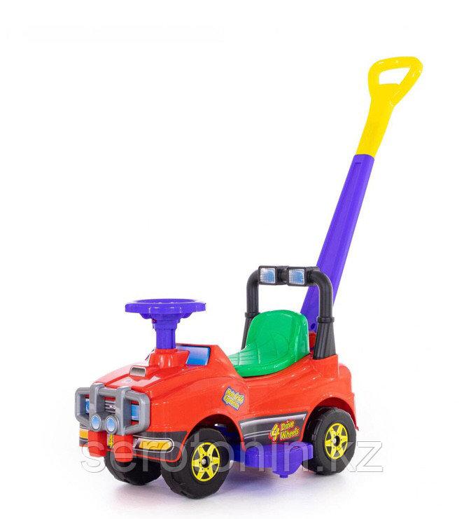 Автомобиль Джип-каталка с ручкой (красный)