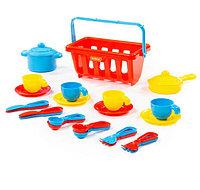 """Набор детской посуды """"TOP chef"""" с корзинкой №2 на 4 персоны (в сеточке), фото 1"""