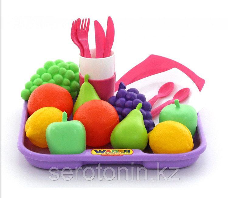 ПОЛЕСЬЕ Набор продуктов №2 с посудкой и подносом (21 элемент) (в сеточке)