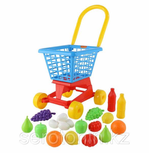 """Тележка """"Supermarket"""" №1 + набор продуктов (в сеточке)"""