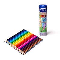 Карандаши цветные Yalong в металл.тубусе 24 цв + точилка