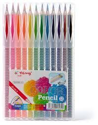 Yalong Карандаши цветные в пенале 12 шт.