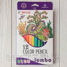 Карандаши цветные Yalong 12 цв