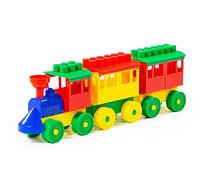 Конструктор - Паровоз с двумя вагонами, фото 1