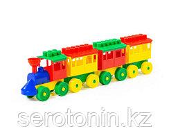 Конструктор - Паровоз с тремя вагонами