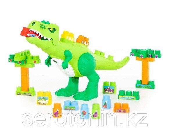 """Набор """"Динозавр"""" + конструктор (30 элементов) (в коробке)"""