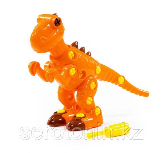 """Конструктор-динозавр """"Тираннозавр"""" (40 элементов) (в пакете)"""