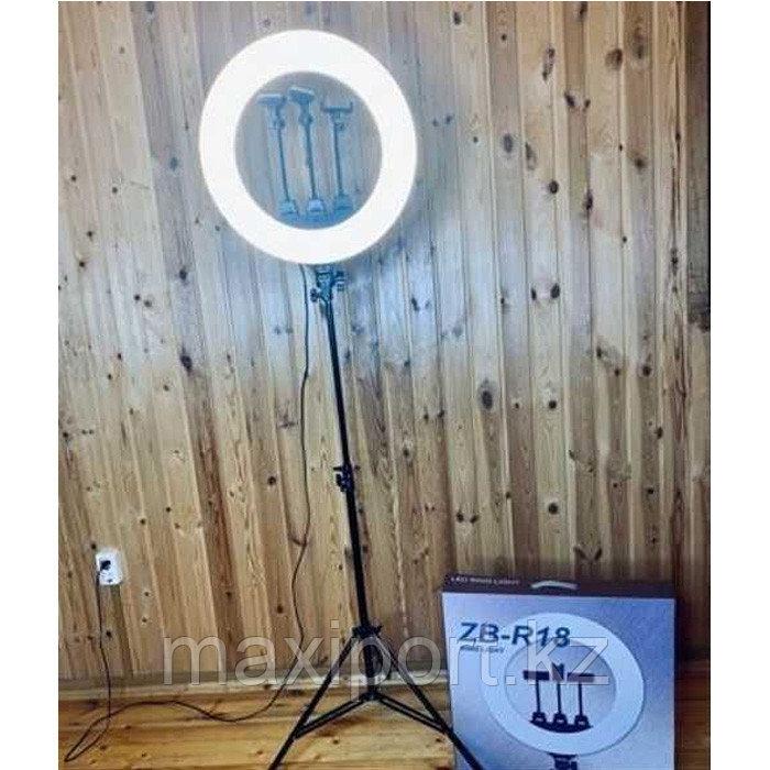 Очень яркая кольцевая лампа 46см с зеркалом и штативом высотой до 210см