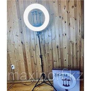 Очень яркая кольцевая лампа 46см с зеркалом и штативом высотой до 210см, фото 2