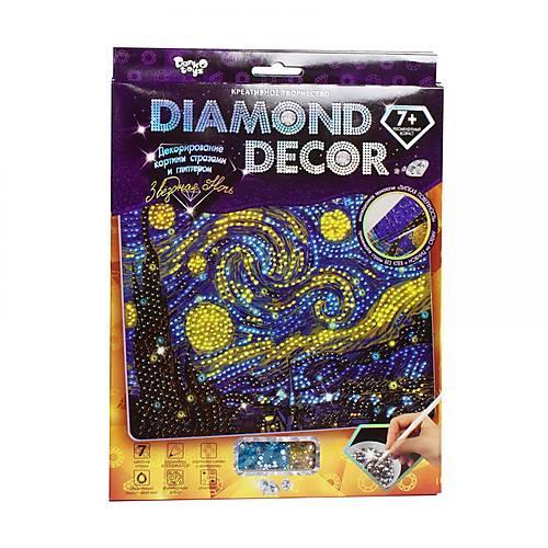 Diamond Decor Декорирование картины стразами и глиттером Звёздная ночь