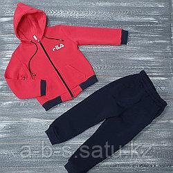 Спортивный костюм красно-черный Fila