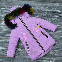 Куртка зимняя сиреневая