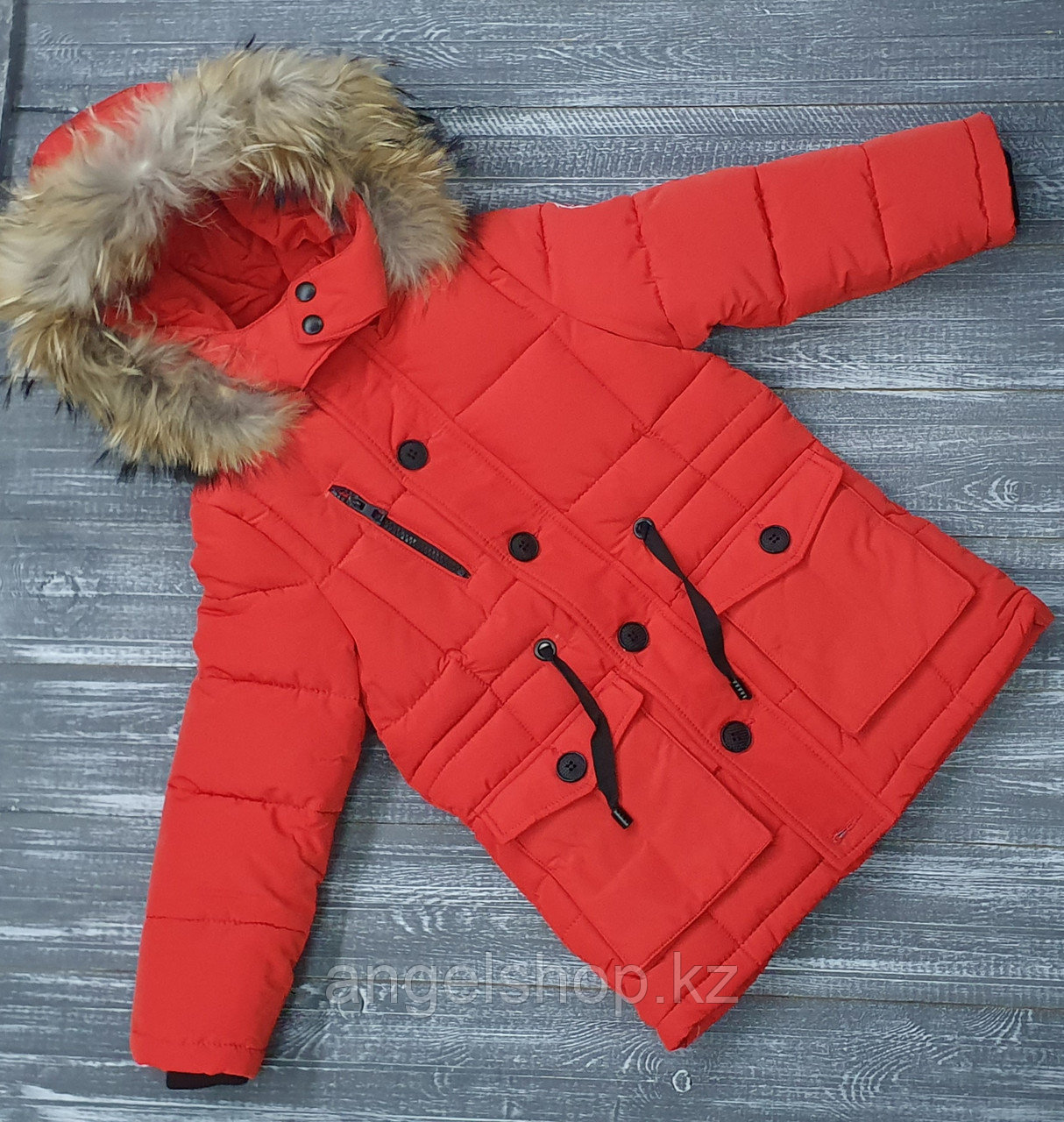 Куртка зимняя красная  canada goose